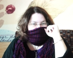 me with red purple scarf 23.09.10