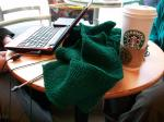 Starbucks knitting 2