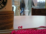 Starbucks knitting
