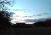 Chasing the dusk across frozen fields. 5/365