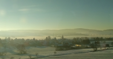 Snowy landscapes near Göttingen. [Yes, that's train window glare] 19/365