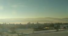 Snowy landscapes near Göttingen. [Yes, that's train window glare] 19/365