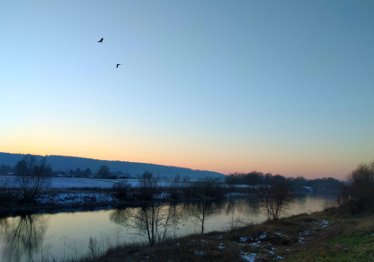 One of my favourite pictures I've taken in a while - walking along the Weser on Sunday. Just look at that sky! 22/365
