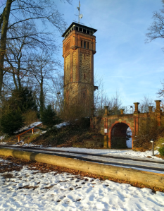 The Klüt tower and a walkway